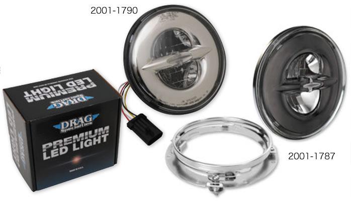 ドラッグ プレミアム 7インチ リフレクタースタイル LEDヘッドランプ