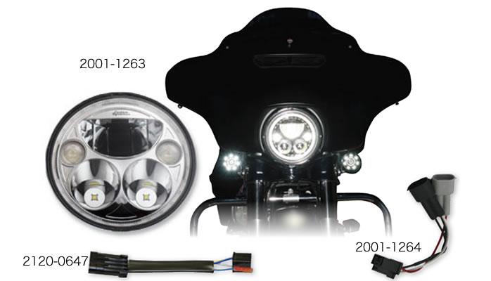 カスタムダイナミクス 7インチ ラウンド トゥルービーム LED ヘッドランプ