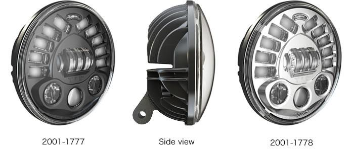 J.W.スピーカー 7インチ ペデスタルマウント LED アダプティブ 2 ヘッドライト