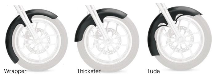 クロックワークス ハガーシリーズ フロントフェンダー 14-19 ツーリング