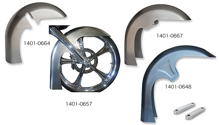RWD カスタム フラットバック ドレッサーフロントフェンダー ツーリングモデル用