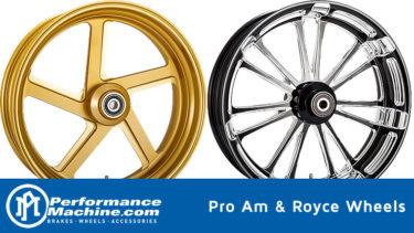 パフォーマンスマシンからニューホイールデザイン Pro-AmプロアームとRoyce ロイス