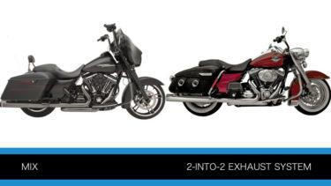 クロームワークスとカーカーの2-INTO-2 ヘッダーマフラー ツーリングモデル用P420