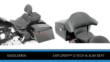 サドルメン 2人乗り エクスプローラーG-TECHとスリムシート ツーリングモデル用P247