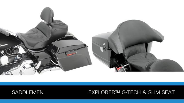 サドルメン 2人乗り エクスプローラーG-TECHとスリムシート ツーリングモデル用