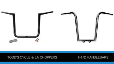 トッズサイクルとLAチョッパーの1.5インチ径ハンドルバーP1103