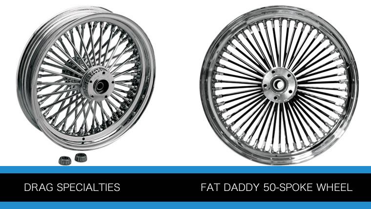 ドラッグ社のファットダディーシリーズ50本スポークホイールP1722