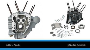 S&SエンジンケースとクランクケースP666