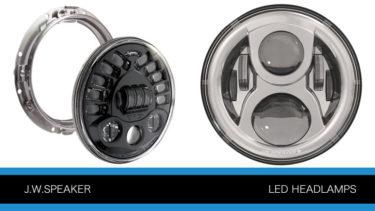 J.W.スピーカーの 7インチ LEDヘッドランプP0982