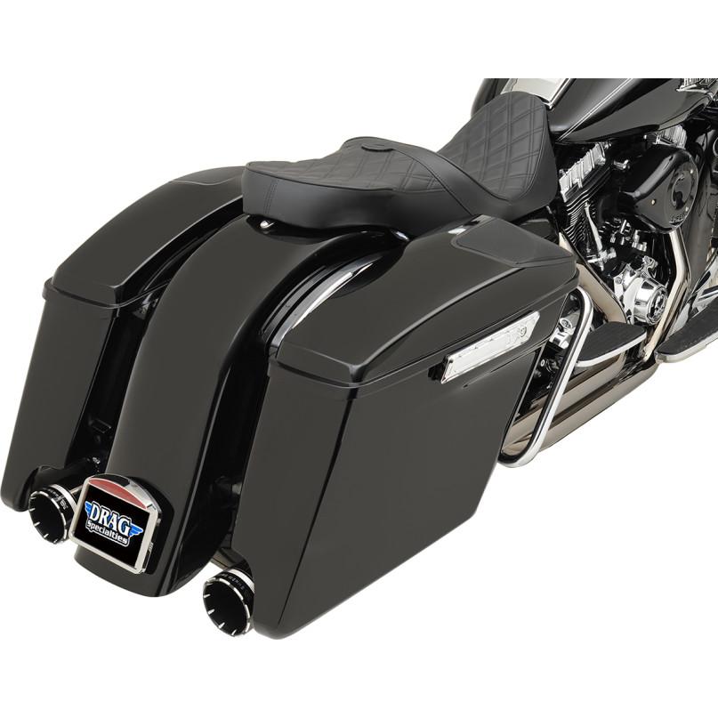 ドラッグ製 エクステンド 純正スタイル サドルバッグ 取付イメージ ブラックカラー