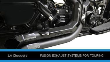 LAチョッパー フュージョン エキゾーストシステム マフラー ツーリングモデル用P422
