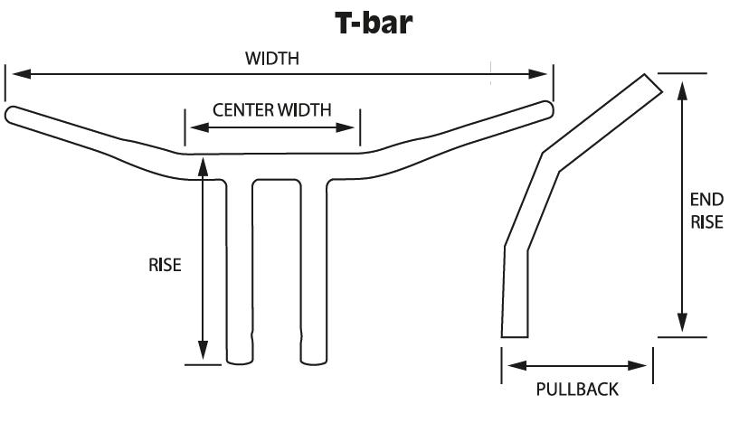 ハンドルのサイズ T-BARの場合